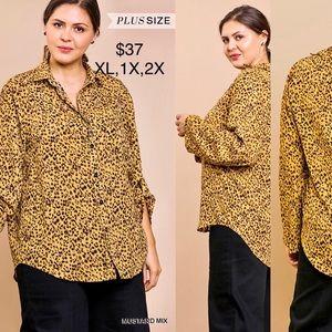 Umgee Plus Size Exotic Print Blouse
